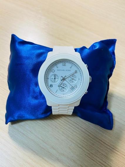 Relógio Raro Michael Kors Original Feminino Branco - Mk5292