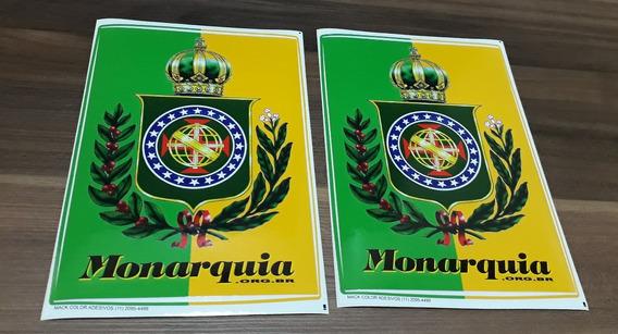 Adesivo Brasão Brasil Imperial Império Monarquia 2 Unidades