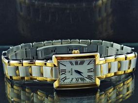 Relógio Bulova 98l157 Banhado A Ouro, Marcadores Romano