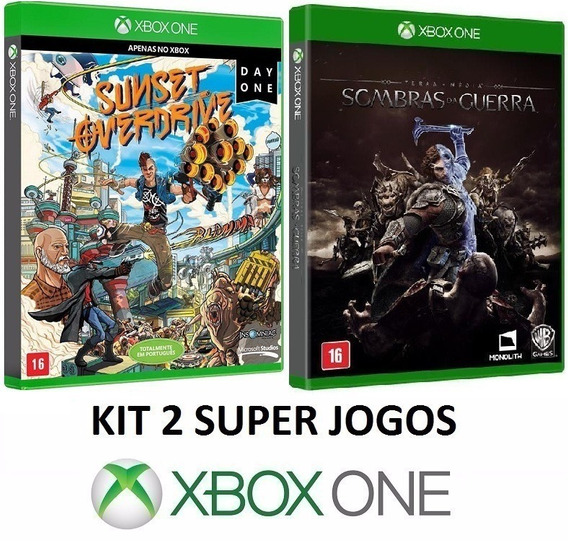 Sombras Da Guerra + Sunset Overdrive - Midia Fisica Xbox One