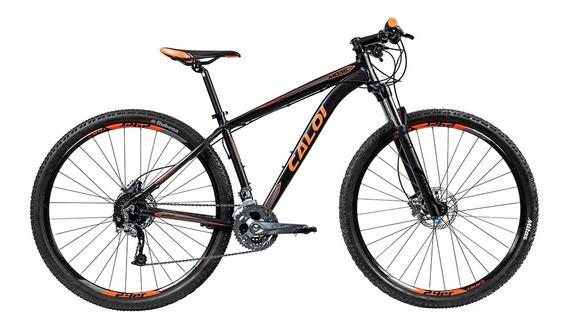 Bicicleta Mtb Caloi Moab Aro 29 -19 - 27 Vel - Preto Fosc