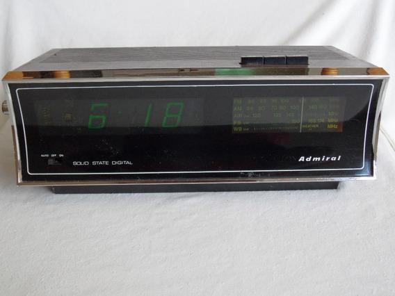 Reloj Flip Admiral Crm 1151 Am-fm Despertador Vintage