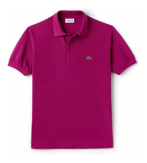 Polo Lacoste L1212 Classic Fit Col. Purple Nueva Temporada