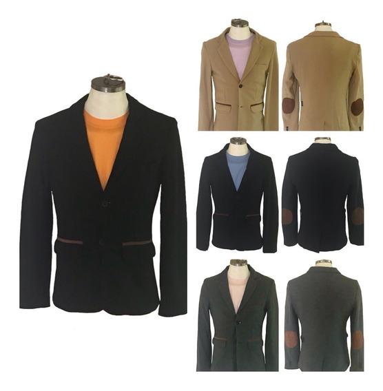 Saco Blazer Moda Slim Fit Hombre 4 Colores En Ch M G Y Xg