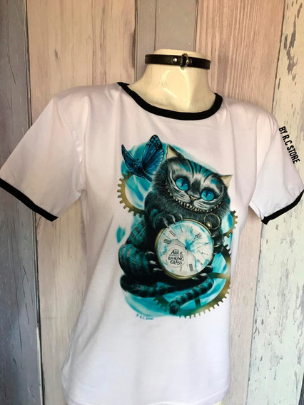 Remera Cheshire Cat Alice In Wonderland Alicia Estampada