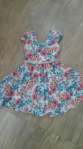 Vestido Infantil Casual Várias Cores Tam. 6, 8 Ou 10 - 19900