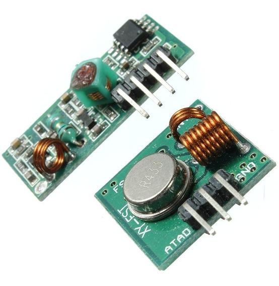 2 Unidades - Módulo Rf Transmissor Receptor 433mhz Am