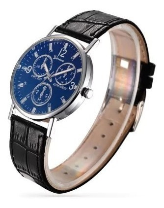Relógio De Luxo Azul Geneva Men Analog Quartz