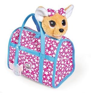 Chichi Love Star Peluche Perrito Mascota Brilla Con Cartera