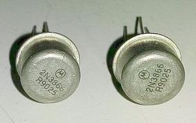 2x Transistor De Rf 2n3866 + Dissipador - Envio P/ C. R.