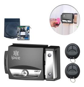 Kit Fechadura Elétrica Com Abertura Por Controle Remoto Ipec