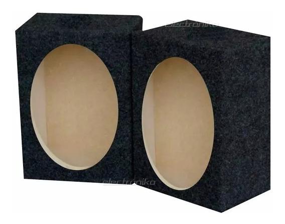 Cajas Acústicas (x2) Cerradas Para Parlante 6x9 Con Borneras