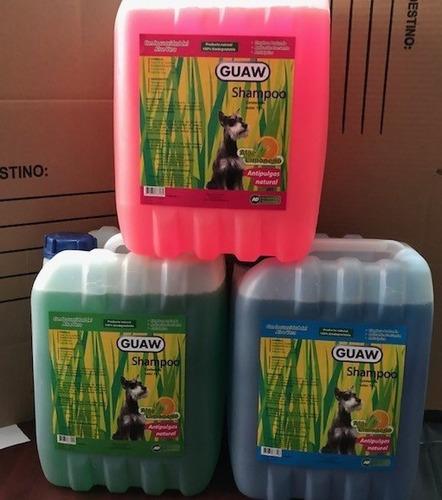 Shampoo Guaw Guaw 10 Litros Antipulga Para Estetica Perros.
