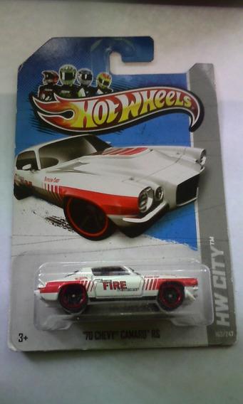 Carro Hotwheels Original Mattel 70 Chevy Camaro Rs (5 Verdes