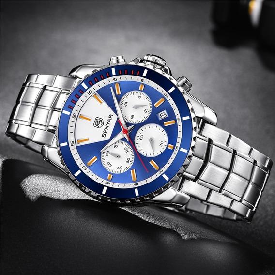Relógio - Benyar - 42mm - Multifuncional 5128