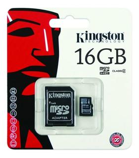 Cartão Memória 16gb Kingston Micro Sd Class 4 100% Original