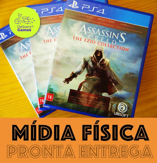 Assassins Creed Ezio Collection Ps4 Mídia Física Lacrado