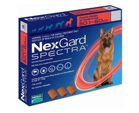 Nexgard Spectra Perro 30 - 60 Kg Para Pulgas Y Garrapatas