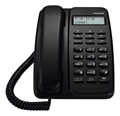 Imagen 1 de 2 de Teléfono Fijo Philips Crd150 Negro