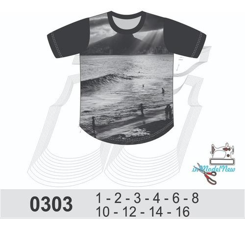 Molde Digital De Camiseta Longline Infantil