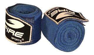 Par De Vendas Fire Sports Box Mma Muay Thai 500cm Boxeo Azul