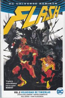 Comic Dc Universe Rebirt Flash Volumen 2 Velocidad Tinieblas
