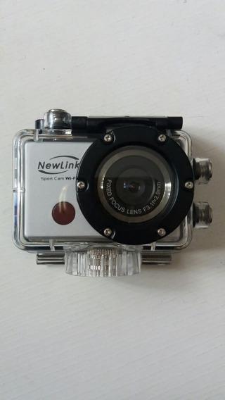 Câmera Sport Cam Wifi Newlink Wi-fi Fs101 Prata