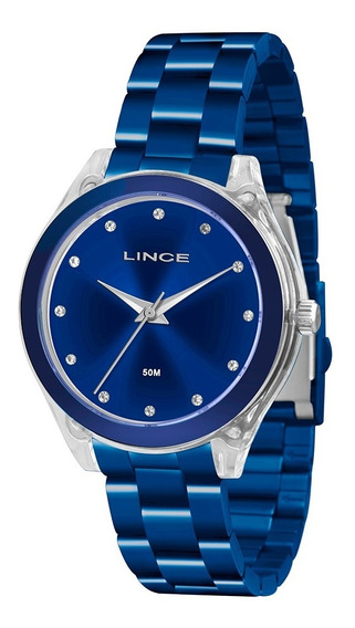 Relogio Lince Lrn4431p Feminino Original Cor Azul Novo