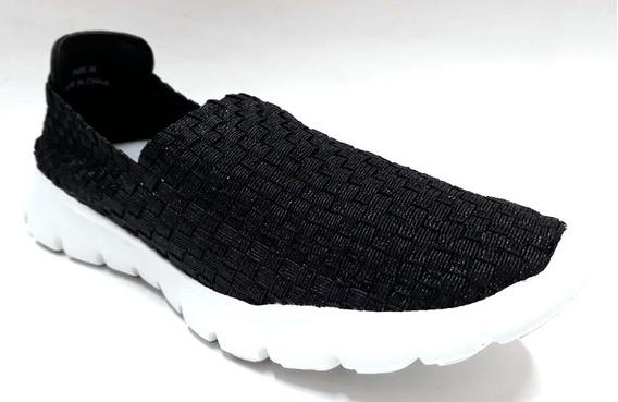 Zapatillas Elastizadas Lurex Soft Mujer Soft Art 3800