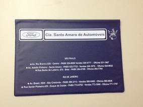 Capa Do Manual Concessionária Ford - Cia.santo Amaro Reprint