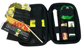 Kit Premium Puff Case Seda Smoking Isqueiro Dichavador