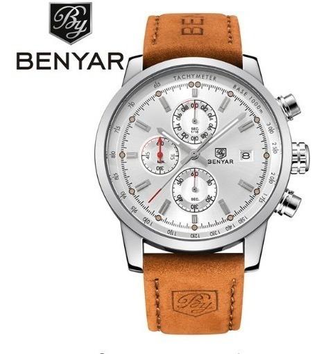 Relógio Masculino Pulso Original Benyar 5102 Super Luxo