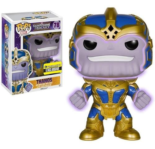 Boneco Pop Funko Marvel Thanos #78 Brilha No Escuro 15cms