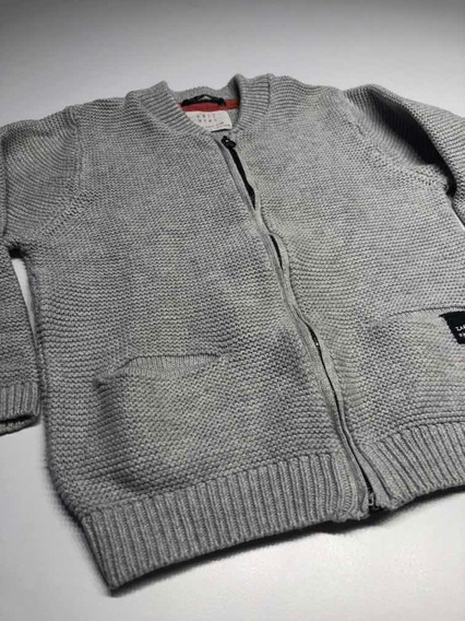 Saco De Hilo De Lana Niño Talle 3/4 Años Marca Zara Usado