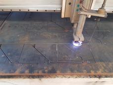Corte Plasma Placa Acero Aluminio Acero Inoxidable