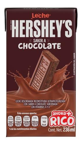 Imagen 1 de 3 de Leche Hershey's Sabor Chocolate 236 Ml