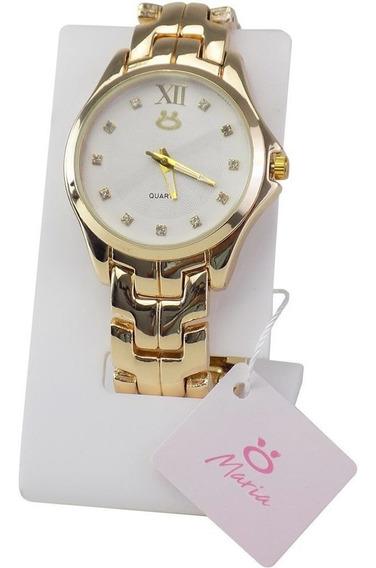 --relógio Feminino Original Colar Brinde Caixa
