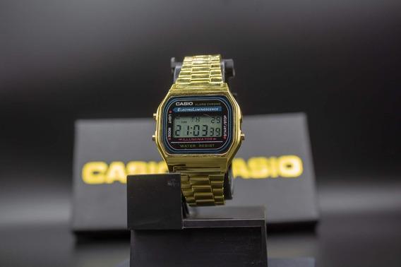 Promoção Relógio Cássio Vintage Dourado Unissex Pulso
