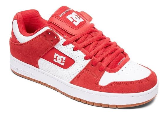 Zapatillas Dc Mod Manteca Rojo Blanco!!! Coleccion 2019