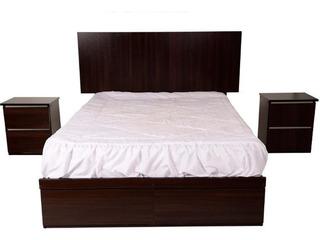Dormitorio 2plz + Cama+colchon Paraiso Ortopedico+2veladores