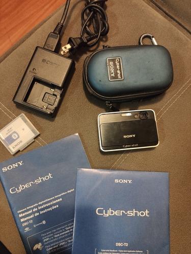 Câmera Sony Cybershot Dsc-t2 8mp Completa Muito Nova 100%