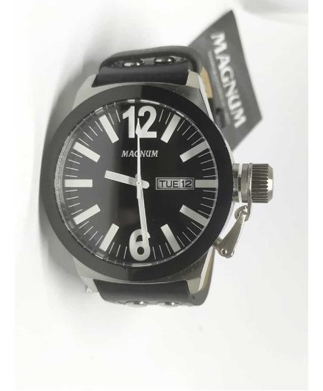 Relógio Magnum Military Pulseira Em Couro Ma31533c - Nfe