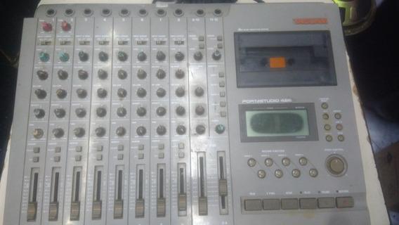 Mesa Ilha De Gravação De Áudio Tascam Portastudio 488