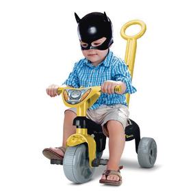 Triciclo Empurrador Motoca Infantil Carrinho Passeio Herois