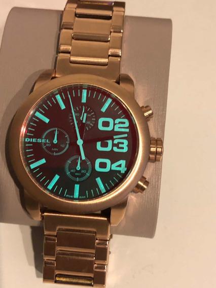Relógio Diesel Dourado Cronografico Dz5454 Frete Grátis