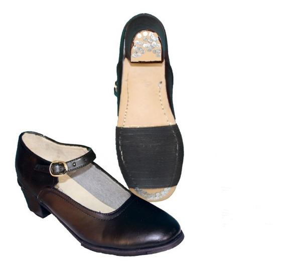 Zapato De Danza Para Baile Folklorico 100% Piel