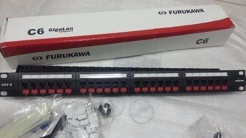Patch Panel 24p Furukawa 35030162 T568a/b Cat. 6e