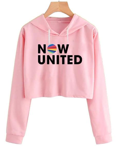 Cropped Now United Moletom Blusa Casaco Feminino - Promoção