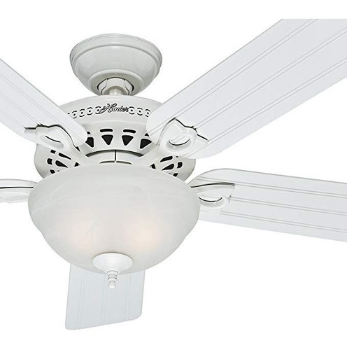 Ventilador De Techo Hunter Fan Al Aire Libre En Blanco Con U