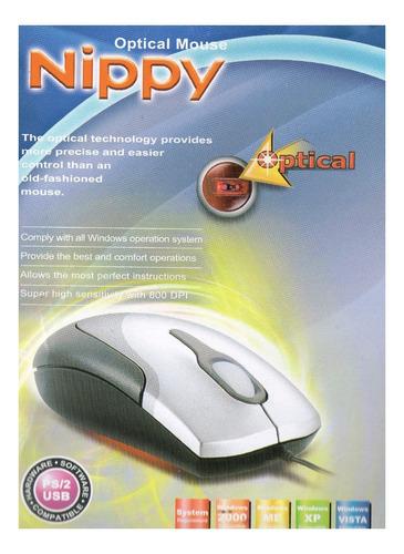 Imagen 1 de 3 de Mouse Optical Nippy Ps2 800dpi Mo-s233ps0370 5v 20ma